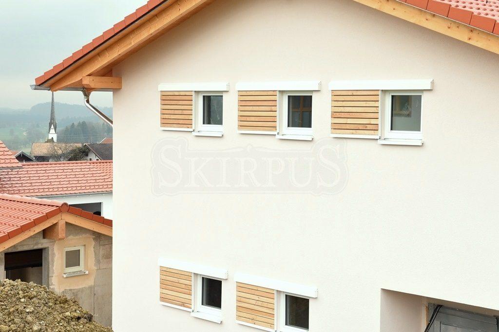 Outdoor wooden sliding shutters   SKIRPUS