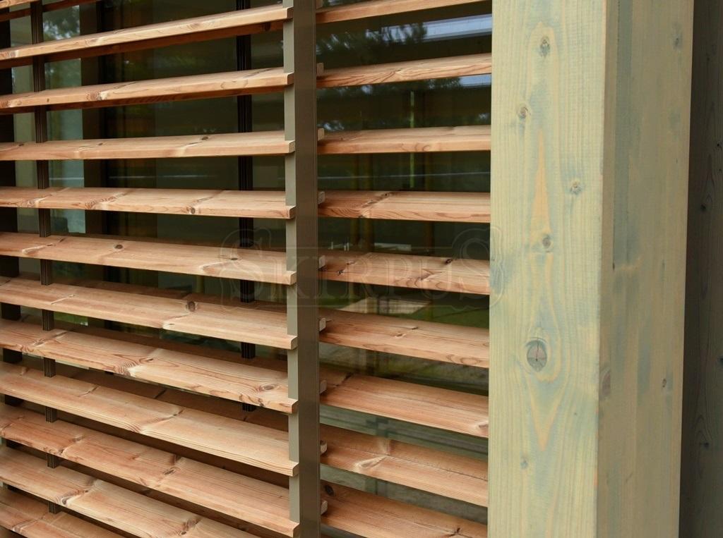 Skirpus Exterior Wooden Sliding Shutters In Juodkrante Lithuania 8