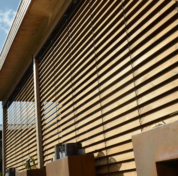 Outdoor Wooden Blinds
