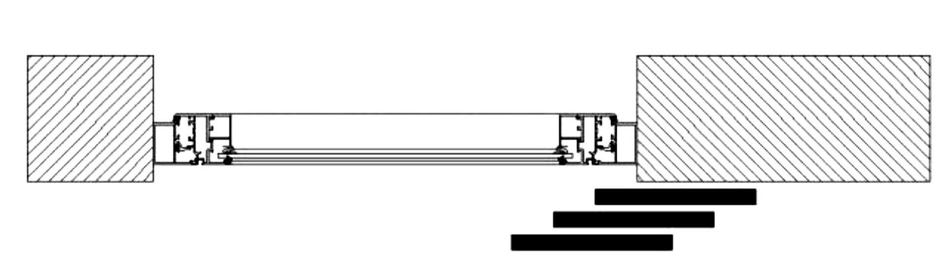 Sliding Shutters Division Diagram 3l3r